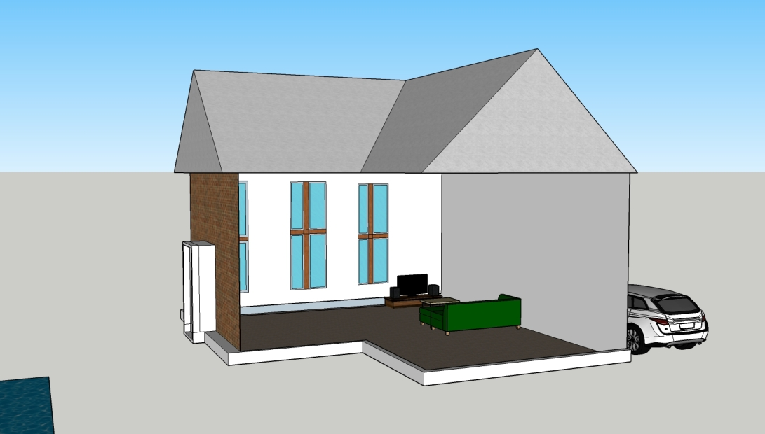 My Sketchup detailed house interior 2
