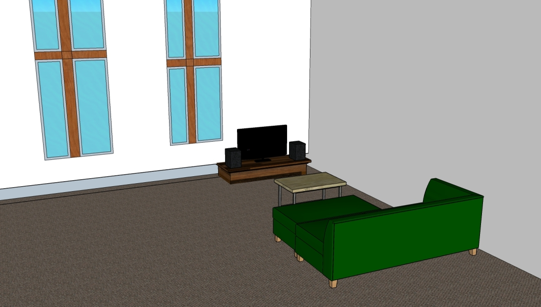 My Sketchup detailed house interior